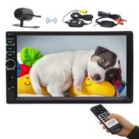 koreanische autoreifen großhandel-7''Car Stereo MP5 Player Doppel-Din-Auto-Video-Player Bluetooth Autoradio Audio Lenkradsteuerung Rückfahrkamera USB AUX IN TF-Karte