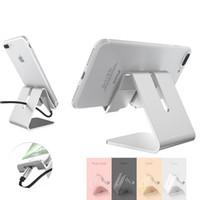 apfel wiege ladung großhandel-Universal Handy Halter Ständer Aluminiumlegierung Schreibtisch Halter für Telefon Ladestation Cradle Mount für iPhone Unterstützung