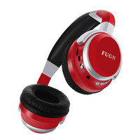 Wholesale headphone mp3 player built online - FG Bluetooth Stereo Wireless Headphones Bluetooth Headset Foldable Design Build in Mic Handfree MP3 player