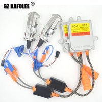 Wholesale H4 Hid Light Set - one set of HID xenon lamp H4 Bulb Kit Ballast Auto Car Headlight Lamp for 6000K Light Source