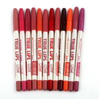 Wholesale 12pcs lip pencil for sale - Group buy MENOW Brand Make Up True Lips Color Lip Liner Pencil set Waterproof Professional Lip Liner Cosmetic Tools P14002