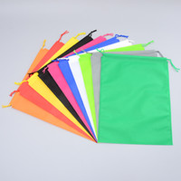 Wholesale pull type - Non Woven Storage Dust Bag For Clothes Shoes Packaging For Handbag Travel Sundries Storage Pull Rope Organization Bags 10COlors DHL HH7-1222