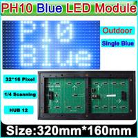 panel de texto al por mayor-El módulo de la pantalla LED al aire libre del color azul P10, P10 llevó a las muestras el panel verde, texto móvil electrónico