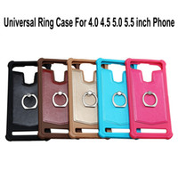 Wholesale inch silicone rings resale online - Universal Mobile Phone Case With Metal Ring Kickstand TPU Silicone Color Protector Cover For Inch Cell Phone
