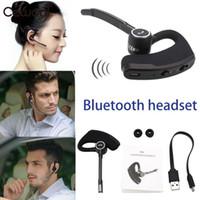 v9 araba toptan satış-V8S V8 V9 Iş Bluetooth Kulaklık Kablosuz Kulaklık Araba Bluetooth V4.1 Telefon Handsfree MIC Müzik iPhone Xiaomi Samsung için