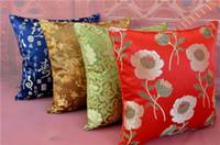 ingrosso copricapo in seta-Elegante fodera per cuscino decorativo jacquard per divano sedia cuscino schienale vintage cuscino fodera per cuscino in raso di seta cinese