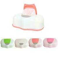 boîte à tissu achat en gros de-Boîte De Tissu En Plastique Lingettes Humides Boîte De Stockage Boîte Rechargeable Contenant 80 Feuilles H06