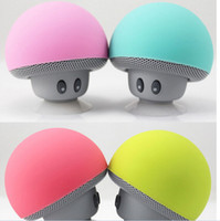 Wholesale best mp3 player for sale - Group buy Best Quality Mushroom head Hands free Bluetooth stereo cute mini wireless Bluetooth portable speaker hot item by dhl