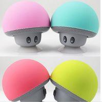 en iyi mini mp3 hoparlörler toptan satış-En İyi Kalite Mantar kafa Eller Serbest Bluetooth stereo sevimli mini kablosuz Bluetooth taşınabilir hoparlör dhl tarafından sıcak öğe