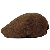braunes system großhandel-NEUE ART Feste Flüssigkeitssysteme Gatsby Cap Ivy Hat Berets Driving Summer Sun Flat Cabbie sboy-Brown