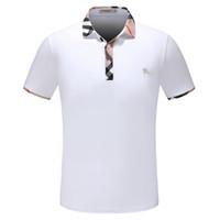 Wholesale dot shirt women - 2018 Summer Fashion Designer Luxury Brand Tag Clothing Men Fabric Letter Polo T-shirt Turn-down Collar Casual Women Tshirt Tee Shirt