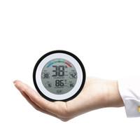 medidor de termómetro al por mayor-Termómetro digital multifuncional Medidor de temperatura del higrómetro Medidor de humedad Pared del reloj Valor mínimo de la pantalla de la tendencia del valor C / Funit