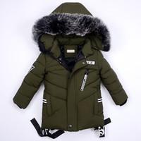 veste bébé garçon 12 18 mois achat en gros de-Vestes d'hiver pour garçons manteau chaud vêtements pour enfants vêtements de neige manteaux vêtements pour enfants vêtements de fourrure de bébé veste à capuchon infantile Parkas