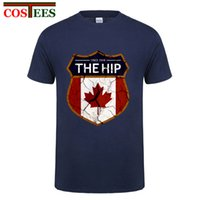 Wholesale Vintage T Shirts Wholesale - Vintage Mens The HIP Tragically Canada Since 1984 Brand Clothing Man's Short Sleeved Slim T Shirts Male Wear Plus Size Tops Tees