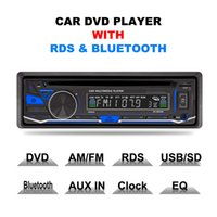 Wholesale car usb mp3 player dvd online - High Quality usb sd aux Liplasting Din Electronic Anti shock Single Din Bluetooth Car Audio Stereo FM DVD CD MP3 Player Receiver
