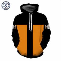 Wholesale naruto coat jacket online - Men Women Anime Naruto Hoodies Sweatshirts Uchiha Syaringan Hooded Outwear Boy Hokage Ninjia Cartoon Coat Casual Pullover Jacket