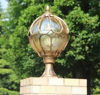 lámpara de tierra al por mayor-Impermeabilice el polo de iluminación exterior de la Tierra caplights faro de pared global poste de lámpara poste de aluminio Lámparas de columna