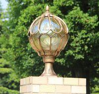 luzes de poste de luzes ao ar livre venda por atacado-led impermeável ao ar livre Terra iluminação caplights pólo Coluna parede mundial bola lâmpada pós de alumínio Lâmpadas