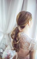 ingrosso ornamenti di cristalli-Accessori per capelli Donna Copricapo Cerchio rotondo con Crystal Gum per capelli Ragazze Ornamento Cerchietti in gomma Fasce elastiche per capelli