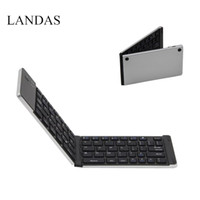 Wholesale Smart Folding Phone - Landas Portable Mini Folding Keyboard Bluetooth Wireless For iPhone Foldable Keyboards Bluetooth For Android Smart Phone Tablets