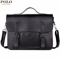 Wholesale Lawyers Briefcase - Business Men Bag Double Belt Decor Brand OL Leather Men Briefcase Bag lawyer Doucument Bag maletines para hombres