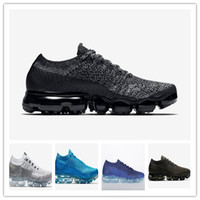 Wholesale outdoor weights - Newest Vapormax Running Shoes Men Casual Sneakers Women Sports Shoes Rainbow Light Weight Outdoor Shock Walking Hiking Athletic Shoes 36-45