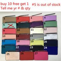 Wholesale wallet wristlet - Brand New leather wallets wristlet women purses clutch bags zipper Card bag US Brand