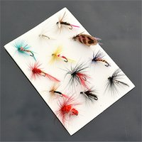 Wholesale ice fishing baits lures resale online - 12pcs Sell Lure Fishing Hooks Simulation Dragonfly Design Fake Fishhooks Creative Multi Flies Bionics Bait Angle New Arrival wh Z