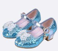 ingrosso pattini di vestito dalla principessa delle ragazze bianche-Bambini Sandali Principessa Kids Girls Scarpe da sposa Tacchi alti Scarpe eleganti Bowtie Scarpe oro per ragazze Bianco Rosa