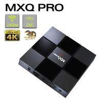 4k uhd tv box venda por atacado-MXQ Pro Android 7.1 TV Box S905W Quard núcleo 1G + 8G Wi-Fi embutido UHD 4K Media Player Android Smart TV Box com pacote