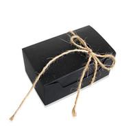 ingrosso scatole da forno bigné-Scatola da 60 pezzi torta nera, scatola di nozze di Natale, per Macaron Gift Bakery Cookie Favor Cupcake Chocolate Packaging