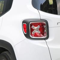 ingrosso la jeep posteriore della coda posteriore-Car Rear Tail Lamp Light Cover Decorazione Interno Trim Fit per Jeep Renegade 2015 2016 ABS Styling