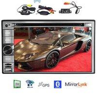 wifi pantalla táctil china al por mayor-Cámara trasera inalámbrica + Android 6.0 CPU de cuatro núcleos Coche Reproductor de DVD Unidad de cabeza de navegación GPS automotriz 6.2 '' Pantalla 1080P / USB / SD / Wifi / Mirrorlink
