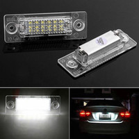 Wholesale volkswagen caddy - 2x 18 LED License Plate Number Lights Car Lamp For VW Golf Jetta Caddy Touran T
