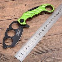 cuchillos mtech al por mayor-MT Mtech 219 220 Knuckle Duster Tactical Cuchillo plegable 5Cr15 Mango de aluminio que acampa Búsqueda de supervivencia Herramienta EDC Colección de herramientas