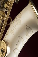 Wholesale bb tenor saxophone for sale - New Brand Musical Instrument SELMER Tenor Bb Tune Saxophone B Flat Brass Tube White Lacquer Surface Saxophone With Mouthpiece