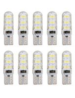 rosa lichtgele großhandel-T10 192 W5W 6 SMD 5630 LED Silicagel wasserdichtes Keil-Licht 6SMD 5730 LED Silikon-Auto-Standlicht Auto-Umriss-Lichter 12V