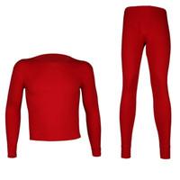 ingrosso biancheria intima sexy sexy degli uomini-Hot Cotton Mens Warm Thermal Underwear Uomo Long Johns Sexy Black Red Thermal Underwear Imposta Thin And Warm Long Johns per l'uomo