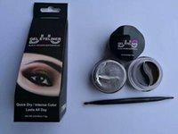 Wholesale eyeliner palette - New arrival Huda 2 in 1 gel eyeliner wateproof makeup palette shimmer matte eye liner cream eye liner makeup tool