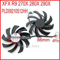 Wholesale vga cooler fans for sale - PLD09210S12HH DC12V A mm VGA Fan Pin For XFX R9 X X X Graphics Card Cooling Fan