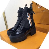 Wholesale snow boots size 42 resale online - New ladies Roman boots luxury fashion boots high quality leather comfortable breathable casual shoes ladies Martin boots size A23