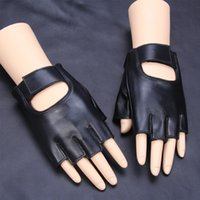 Wholesale sky cycling for sale - Fashion Sunscreen Comfortable Thin Leather Semi Finger Glove Summer Outdoor Cycling Dance Yoga Casual Gloves Hot Sale jy ff