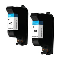 Wholesale wholesale inkjet cartridges - 2PK Black 51640A Ink Cartridges Compatible For HP40 40 Designjet 488CA 650c 1200C 230 250c 330 350c 430 Printer Inkjet