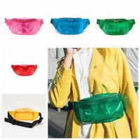 Wholesale jogging chest pack - PVC Transparent Laser Waist Bag 5 Colors Waterproof Chest Bag Pockets Travel Bag Sport Fanny Packs Outdoor Bags 50pcs OOA5323
