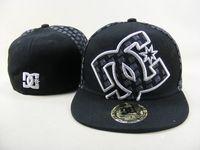 chapeaux à vendre achat en gros de-Top vente Houston dc chapeaux ajustés Baseball brodé lettre d'équipe chapeaux à bord plat Baseball taille casquettes marques Sports Chapeu pour hommes et femmes