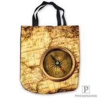 Wholesale map tote bags resale online - Custom Canvas World Retro Map Tote Shoulder Shopping Bag Casual Beach HandBag Daily Use Foldable Canvas