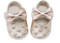 botas de goma viejas al por mayor-Zapatos para niñas pequeñas PU prewalker de suela blanda 0-18 meses
