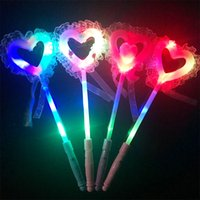 Wholesale Lighting Decoration Products - Lace love light stick 2018 new flash stick night fairy stick Summer night market activities cheering products wholesale free shipping