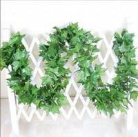 ingrosso piante verdi di edera falsa-2.2 m artificiali piante finte verde foglie di edera uva artificiale vite vegetazione ghirlanda di fiori matrimonio decorazione della casa a buon mercato