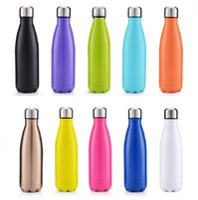 ingrosso bicchierini di plastica ha portato-Bottiglie a forma di bottiglia di acqua di viaggio isolate a forma di bottiglia di Cola a forma di vuoto di doppio strato delle tazze di pallottole dell'acciaio inossidabile di modo